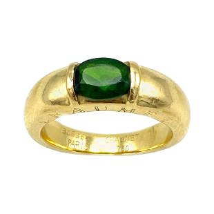 Vintage Chaumet Paris Yellow Gold and Green Peridot