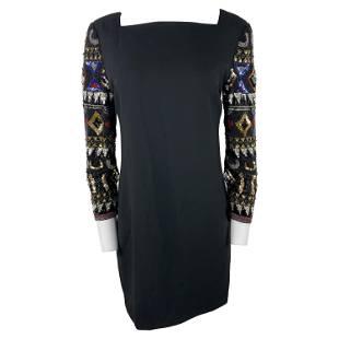 I. Magnin Black Mini Evening Dress