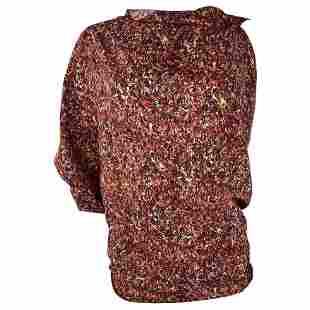 Bottega Veneta Multicolored Short Sleeves Blouse Top,