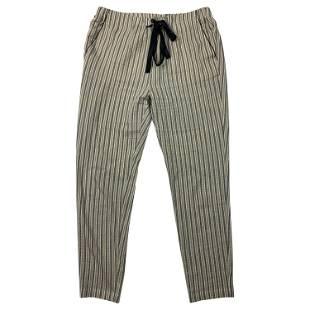 Giada Forte Navy Striped Pants