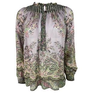 Vintage Etro Floral Blouse Top, Size 38