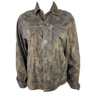 Faith Connextion Green Camouflage Jacket, Size Medium