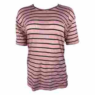 Isabel Marant Etoile Pink Striped T-Shirt, Size M