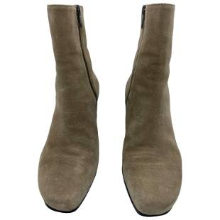 Ann Demeulemeester Camoscio Brown Suede Ankle Boots,