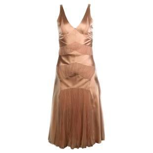Vintage CHRISTIAN DIOR Boutique Pink Silk Slip Midi