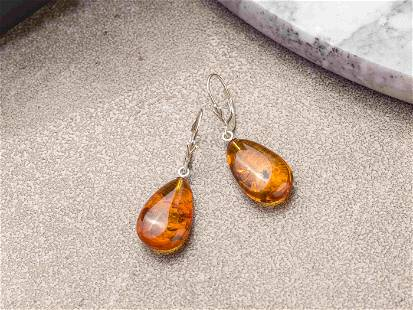 Earrings made of Natural Baltic Amber