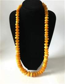 Astonishing Unique Vintage Amber Necklace made from