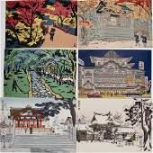 Nisaburô Ito: Six postcards of Kyoto