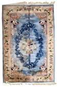Handmade vintage Art Deco Chinese rug 6.1' x 8.10' (