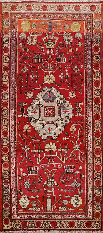Antique Geometric Khotan Egyptian Area Rug 4x8