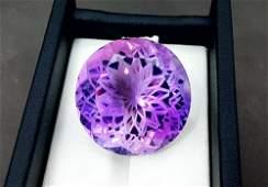 Amethyst, 42.05 Carats Natural Top Color Fancy Flower