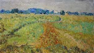 Oil painting Field landscape Sevastyanov Viktor