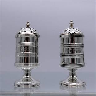 19th Century Antique Victorian Sterling Silver Salt &