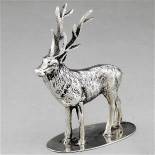 Italian sterling silver sculpture-reindeer