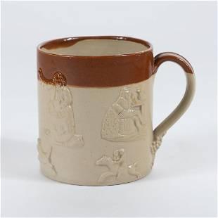 English salt glazed stoneware mug