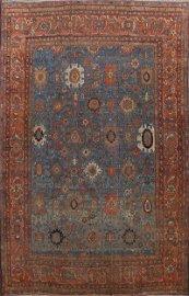Antique Vegetable Dye Heriz Bakhshayesh Persian Area
