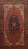 Pre-1900 Antique Vegetable Dye Sarouk Farahan Persian
