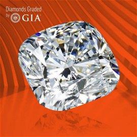 3.50 ct, Color D/VVS1, Cushion cut GIA Graded Diamond