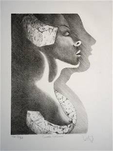Luis Miguel Valdes, signed Lithograph, 1996