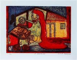 Gabriel Macotela, signed Sugarlift and resin, 2005