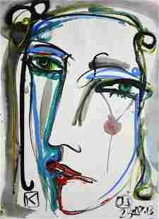 Juan Sebastian Barbera, signed Acrylic on paper, 2013