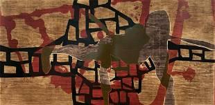 Alberto Castro Lenero, signed Xilograph and etching,
