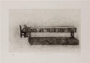 Agustin Bejarano, signed Etching, 2005