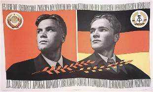 Russian soviet original propaganda poster 1958