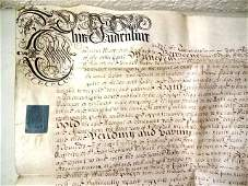 1694 Fine English Vellum Indenture Aldersgate London