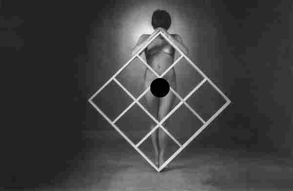 ROLAND KELLER - Nude with Grid