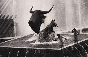 """J. H. LARTIGUE - """"Bull and Stag"""" by Paul Jouvet"""