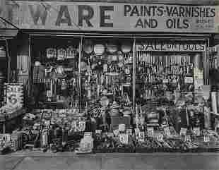 BERENICE ABBOTT - Hardware Store, Bowery, 1938