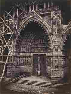 EDOUARD-DENIS BALDUS - Portal, Amiens Cathedral, 1855