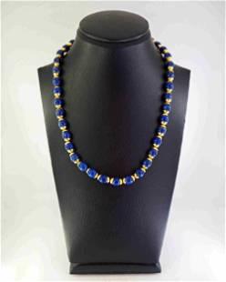 Lapis lazuli and 18K gold necklace