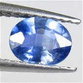 0.72 Ct Natural Blue Sapphire Oval Cut