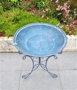Wrought iron birdbath - Animal feeder - Charming garden