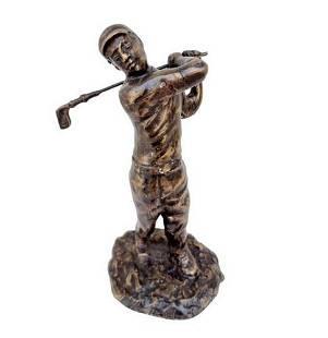 Bronze sculpture of a golfer - Gift idea golfer - Golf