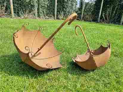 Special iron flower pots - Umbrella flower baskets -