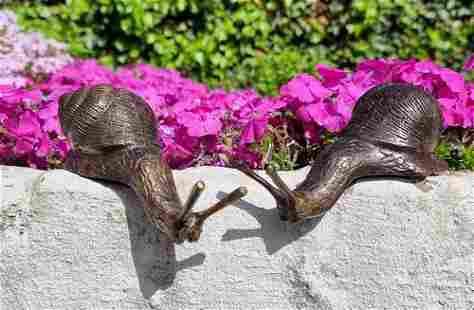 Snail family - Bronze snail ornaments - Patio &