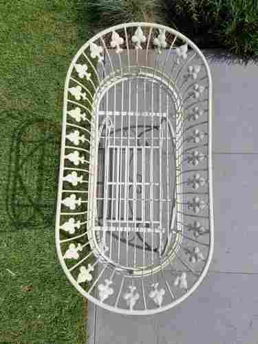 Large wrought iron flower rack planter on stand -