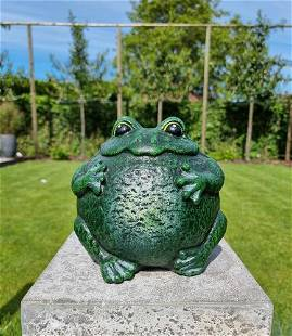 Cast iron frog - Cast iron toad - Pond and garden