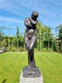 Bronze garden sculpture of Eve - Nude woman - Rodin