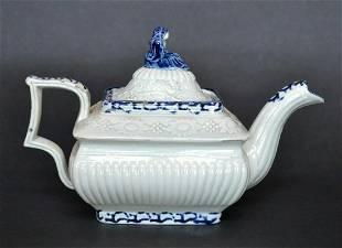 English Pearlware Teapot circa 1800