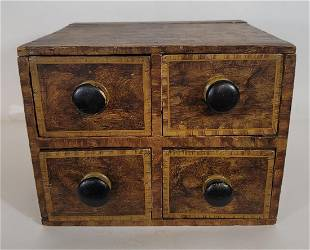 Set of decorated spice drawers ca 1840-60