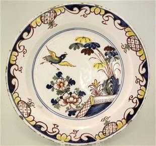 Mid 18th century Liverpool delft plate