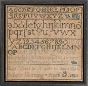 """""""LET VIRTUE BE A GUIDE TO THEE"""" MARKING SAMPLER DATED"""