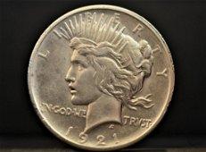 1921-P Peace Dollar $1 Choice AU