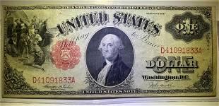 1917 $2 Legal Tender Note AU+