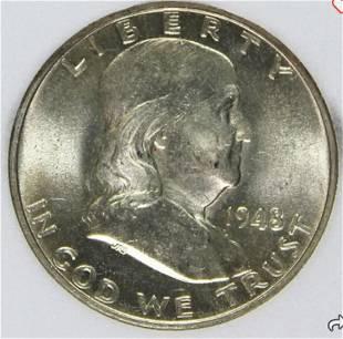 1948 Franklin Half Dollar MS-66 CCGS (FBL)