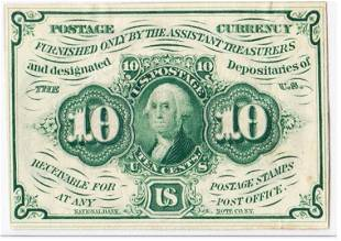 POSTAGE GREEN with ABNC MONOGRAM. UNCIRCULATED